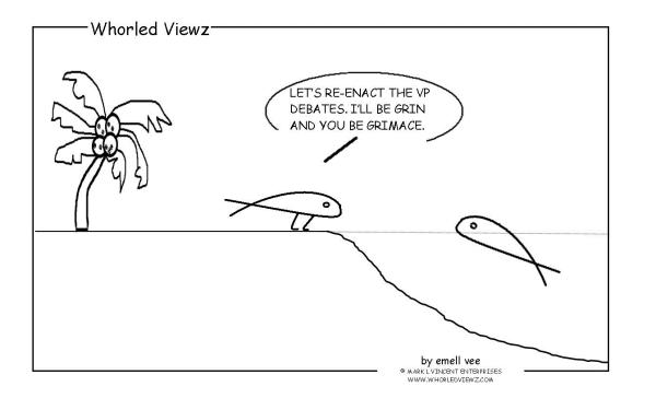 whorled viewz, emell vee, vp debates, vice presidential debates
