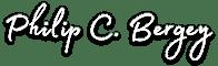 Philip C. Bergey Signature - White